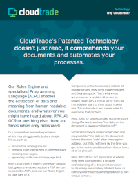 CloudTrade Patented Technology